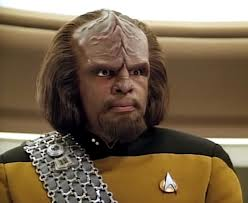 Worf sees you judging me. It's not wise to anger the Klingon.