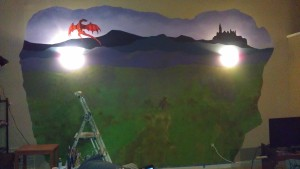 The dragon is up, and the mountains are repainted.
